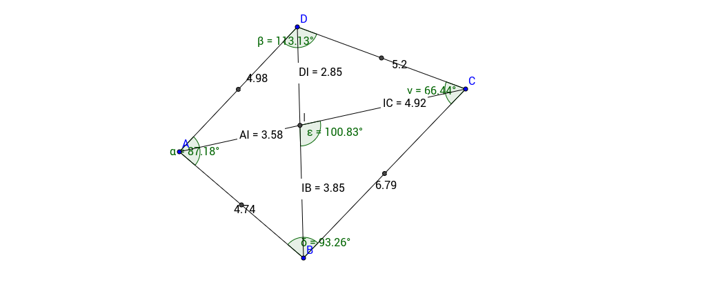 Diagonals of a quadrilateral