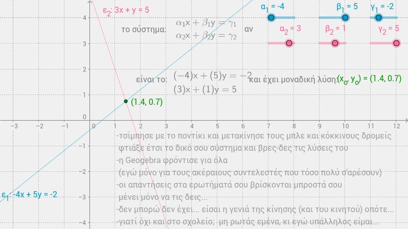 2x2 γραμμικό σύστημα-γ'γυμνασίου