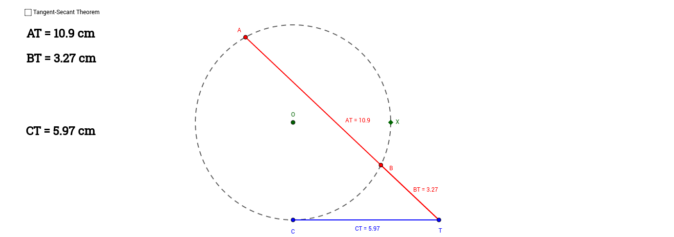 Tangent-Secant Theorem