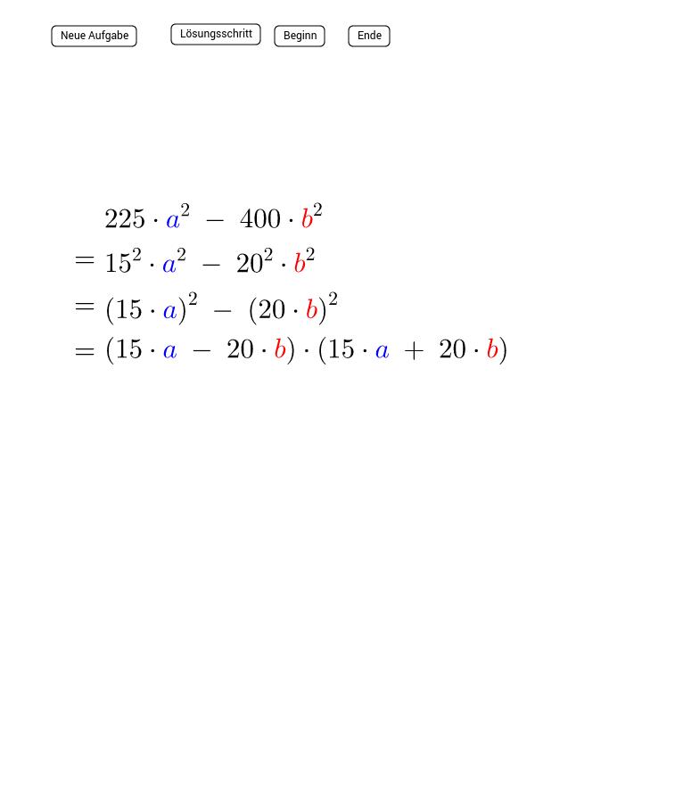 III. Binomische Formel - Faktorisieren