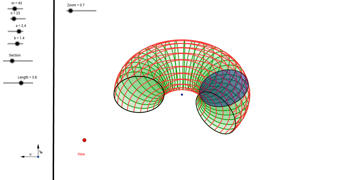 Section of a torus (3D)