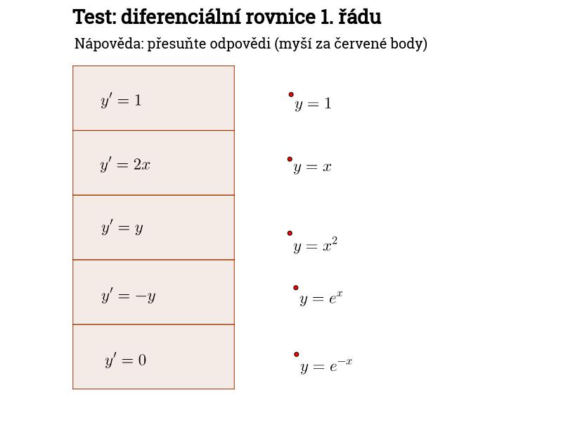 Test: dif. rov. 1. řádu