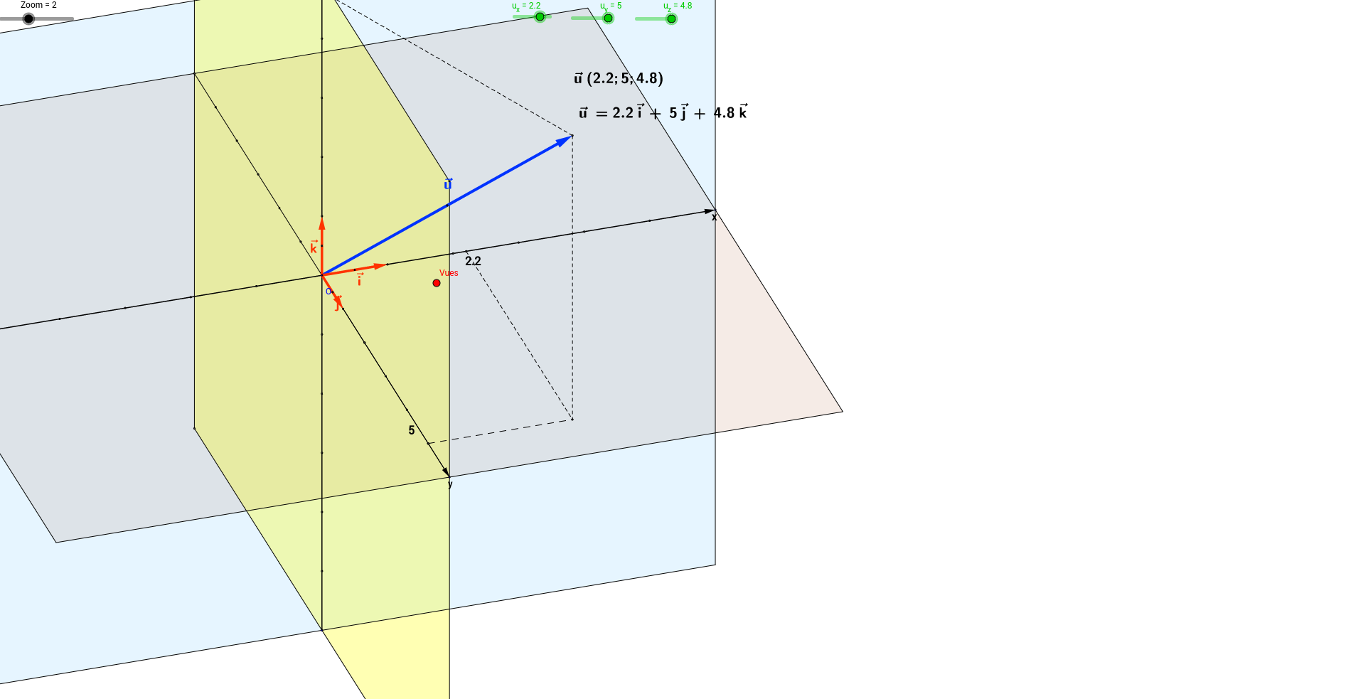 Coordonnées d un vecteur dans l espace