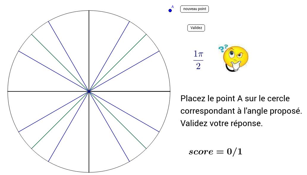 Cercle trigonométrique niveau 1