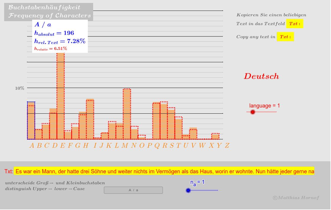 Statistik und Wahrscheinlichkeit  GeoGebra