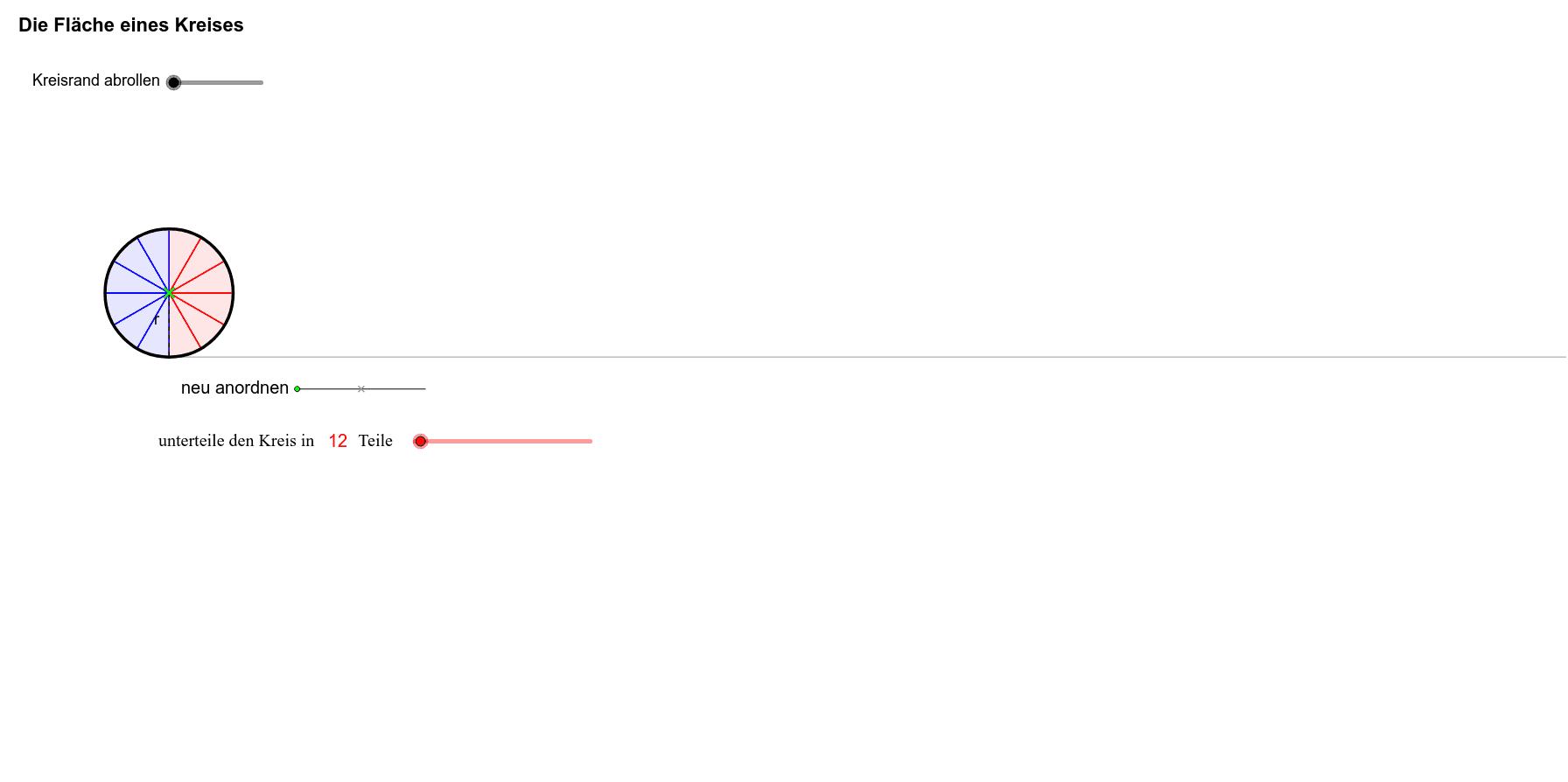 ... Mehr Der Fläche Eines Rechtecks Mit Der Höhe Des Kreisradius Und Der  Halben Länge Des Kreisumfangs An. Bekanntlich Ist Die Formel Für Den  Flächeninhalt ...