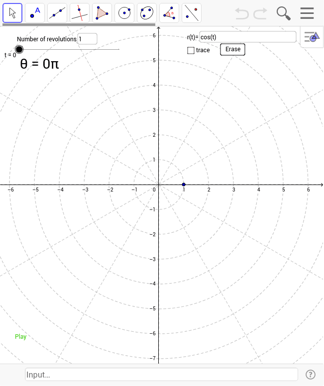 graphing in polar coordinates geogebra. Black Bedroom Furniture Sets. Home Design Ideas