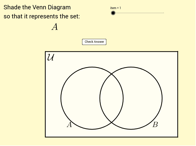 Shading venn diagrams geogebra ccuart Gallery