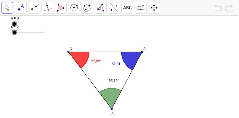Investigating the Triangle Angle Sum Theorem GeoGebra – Triangle Sum Theorem Worksheet