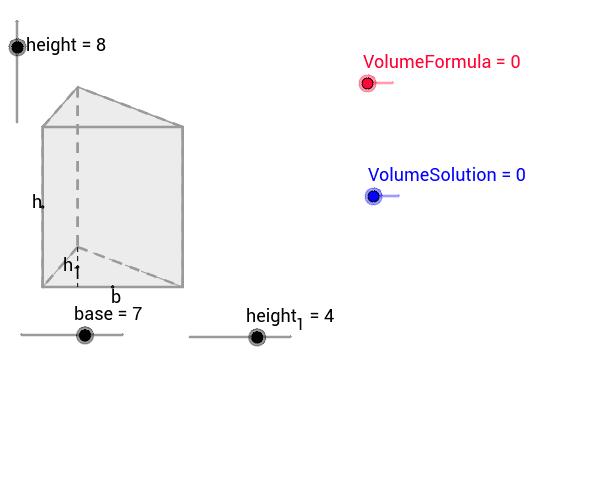 Triangular Prism GeoGebra – Volume of Triangular Prisms Worksheet