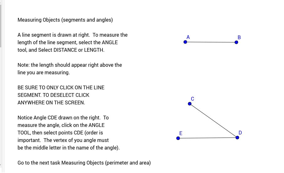 Printable Worksheets measuring line segments worksheets : Grade 7 Measuring Objects (segments and a… - GeoGebra